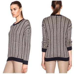 VINCE Mercerized Texture 100% Cotton Sweater
